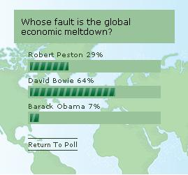 Polls clearly show that it's all David Bowie's fault